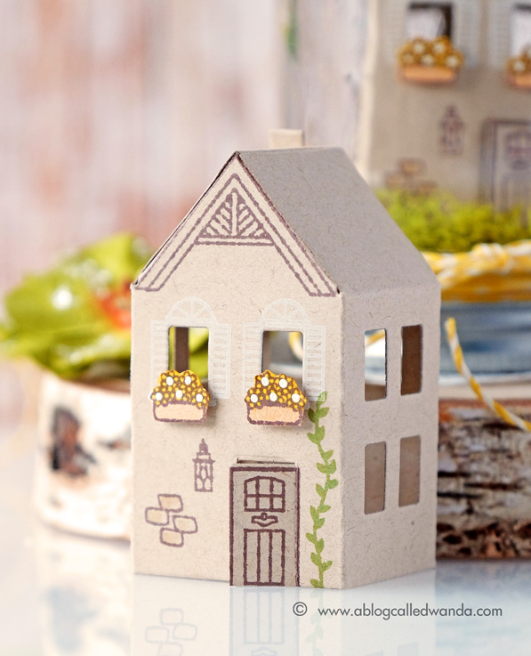 Hero Arts two story house die. New Catalog blog hop. Mini house!