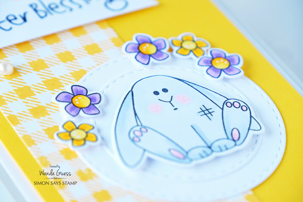 2 Simon Says Stamp Reason To Smile Release. Easter card. Wanda Guess