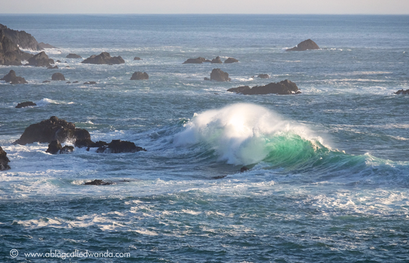 California coast - waves at Mendocino