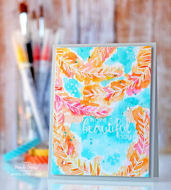 Masterpiece Box from Simon Says Stamp. Altenew Floral. Watercolor with Zig Markers. Project by Wanda Guess