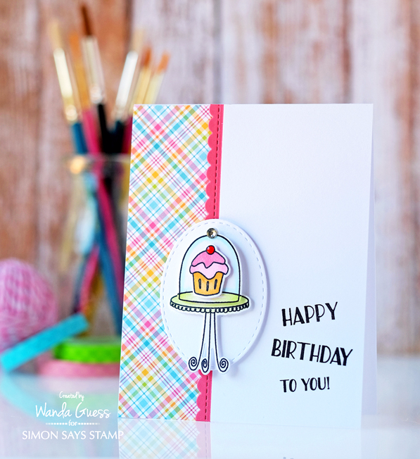 Simon Says Stamp Sweet Cakes stamp set. Stamptember 2016. Card by Wanda Guess