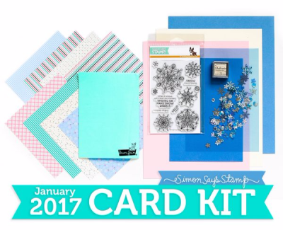 Simon Says Stamp January 2017 Card Kit. Frozen Fractals Stamp Set.