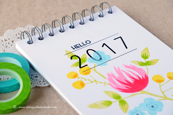 Concord & 9th Flourish Stamp Set. 2017 calendar