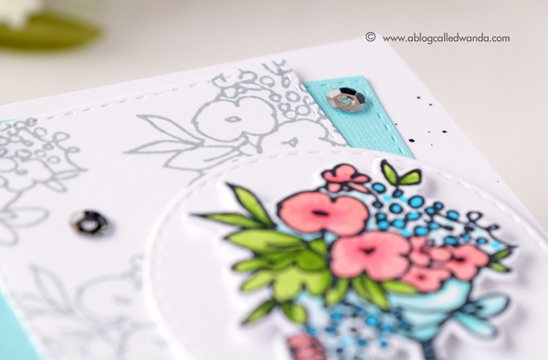 Altenew florals. coloring with markers. Birthday card by Wanda Guess
