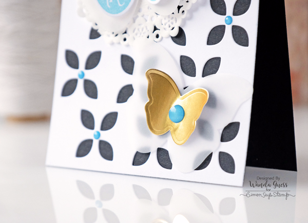 Reverse Confetti Butterfly Dreams. Card by Wanda Guess