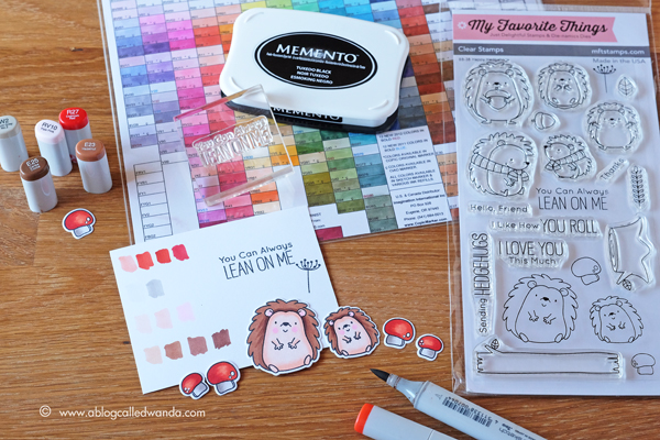 Copic Markers and MFT stamps