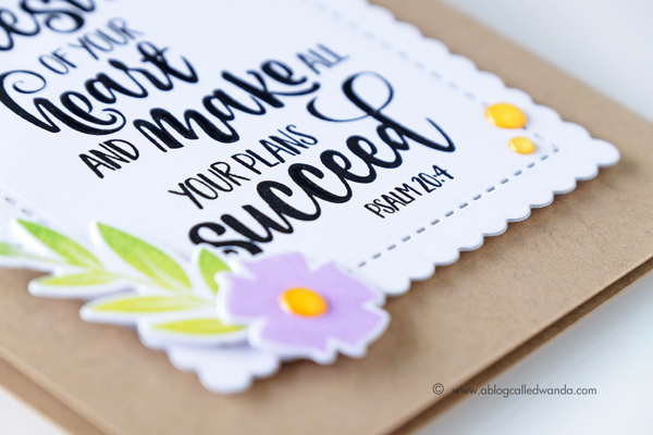 Papertrey Ink New Release Year of Psalms and Gran's Garden stamp sets. Project by Wanda Guess. PTI design team