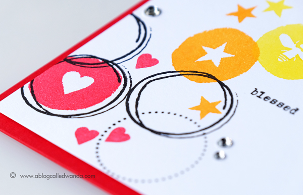 Papertrey Ink New Release Circled Symbols stamp set. Project by Wanda Guess. PTI design team