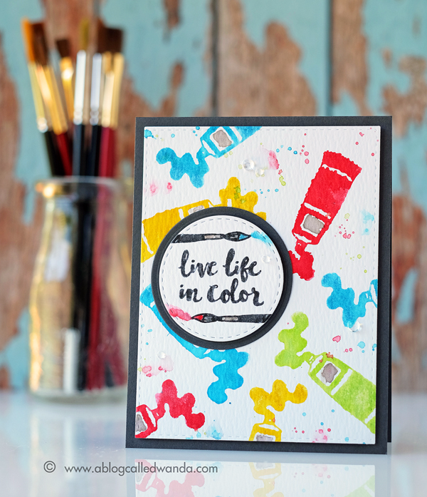 Reverse Confetti Blog Hop! Work of Art stamp set! Card by Wanda Guess