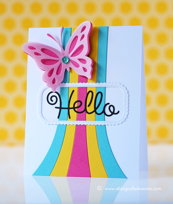 Papertrey Ink Throwback Thursday. Rainbow Stripes Dies. Card by Wanda Guess PTI Design Team
