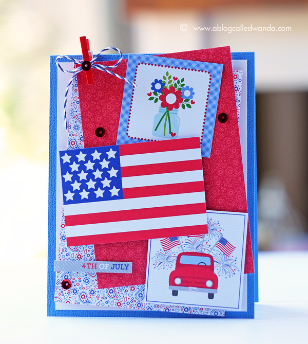 Doodlebug Yankee Doodle collection. Card by Wanda Guess