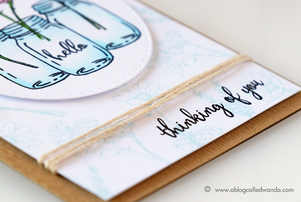 Hero Arts Blog Hop. Mason Jar stamps. July Card Kit project by Wanda Guess