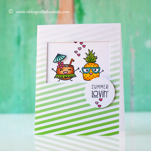Taylored Expressions Clearly Planned Super Sweet stamp set. Card by Wanda Guess. CAS card, Copic Markers