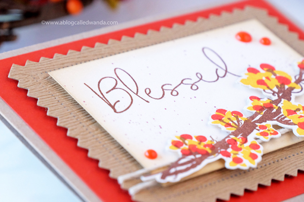 Papertrey Ink Beautiful Berries Autumn. Card by Wanda Guess