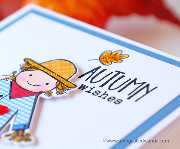 Papertrey Ink Autumn Scarecrow card by Wanda Guess. PTI new release August 2017. PTI Design team