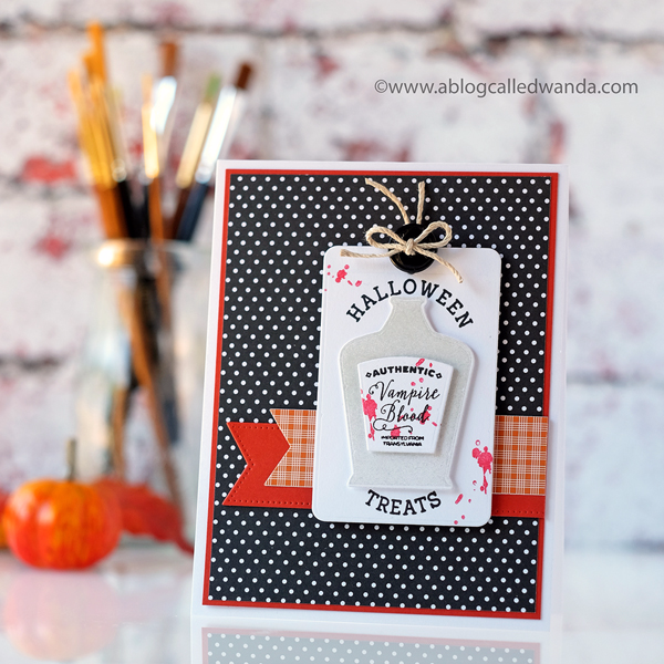 Papertrey Ink Halloween card Wicked Elixir
