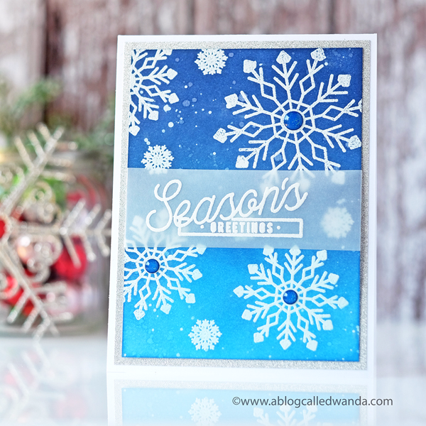 PAPERTREY INK SILVER WHITE WINTERS SNOWFLAKE STAMP SET. NEW RELEASE SEPTEMBER 2017. WANDA GUESS, PTI DESIGN TEAM