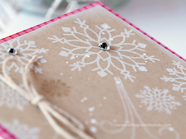 COUNTRY CHRISTMAS CARD SNOWFLAKES