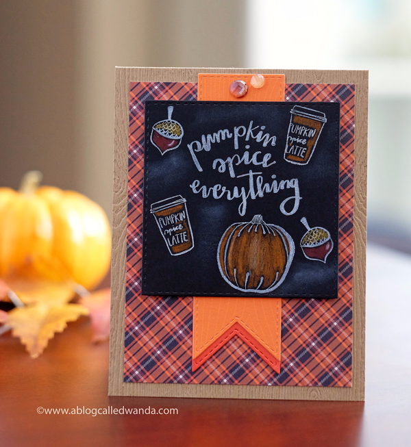 Prima Amber Moon Collection. Chalkboard card by Wanda Guess