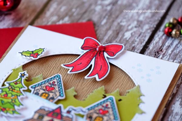 Hero Arts October card kit - Christmas card by Wanda Guess