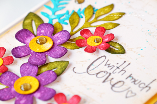 Fall Floral card with Distress Inks