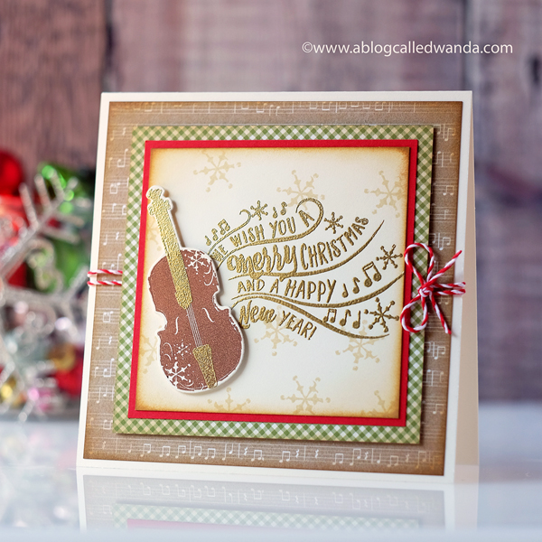 Papertrey Ink Sing a Song of Christmas. October Release. Christmas card by Wanda Guess