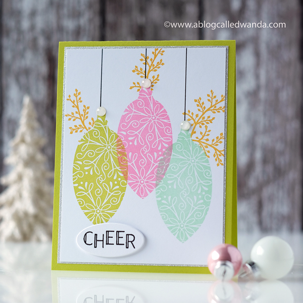 hero Arts Card Kit - ornaments stamps and dies. Retro Christmas colors