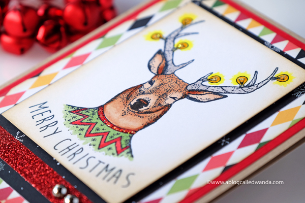 DEER STAMPS CHRISTMAS CARD