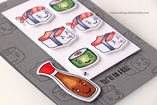 SUSHI CARD COPIC COLORING