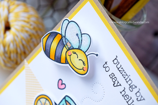 Honey Bee Stamps Build A Bee using action wobbles