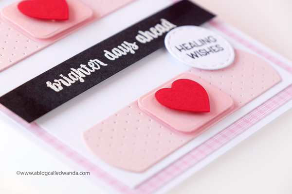 Get well card - clean and simple design. Papertrey Ink . Wanda Guess