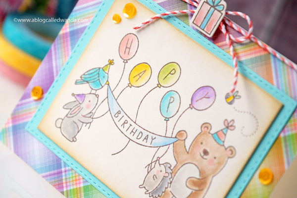 watercolor pencils. handmade birthday card