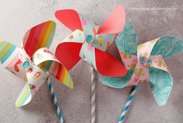 Make your own paper pinwheels