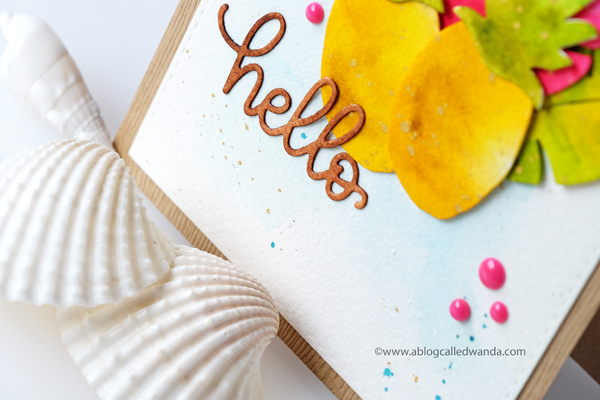 Simon Says Stamp hello beautiful gorgeous dies. Watercolor