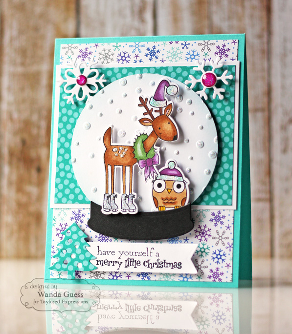 Taylored Expressions Woodland Winter stamps - card by Wanda Guess