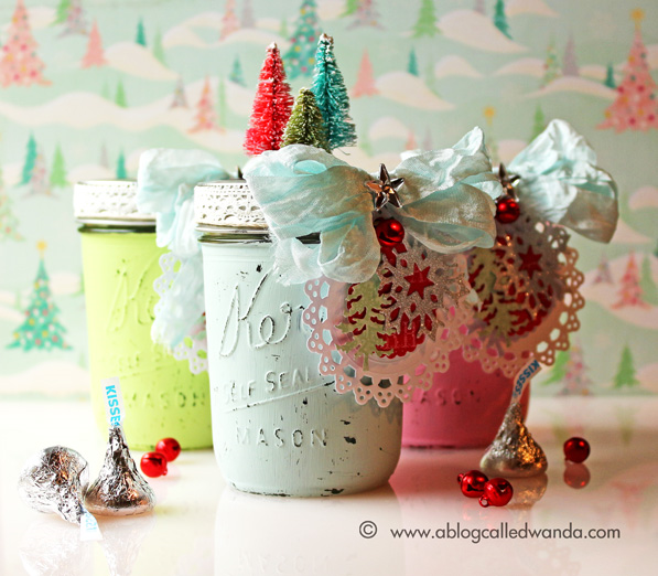 Mason Jars for Christmas by Wanda Guess