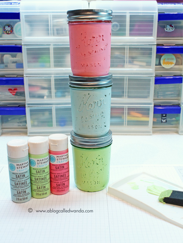 painted mason jars project diy crafts