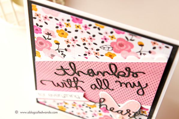 PInk Paislee Bella Rouge paper. Card by Wanda Guess