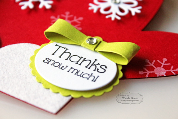 Mitten Thank You card by Wanda Guess