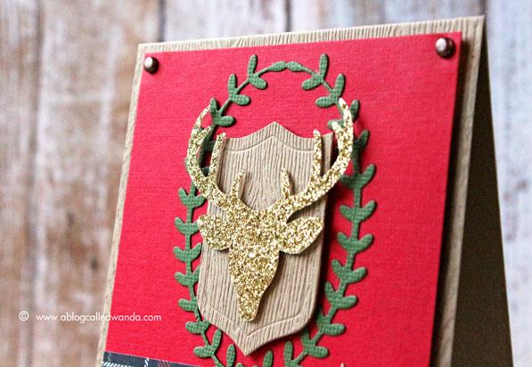 Antlers Die - Christmas card - by Wanda Guess