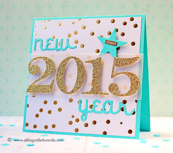 happy new year card by wanda guess