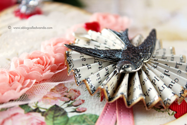 Ideaology bird and rosette. Project by Wanda Guess