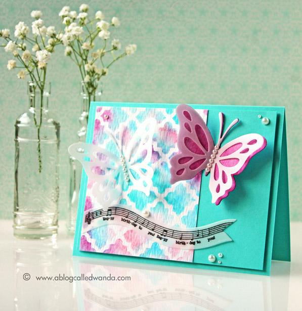 Papertrey Ink blog hop card - by Wanda Guess