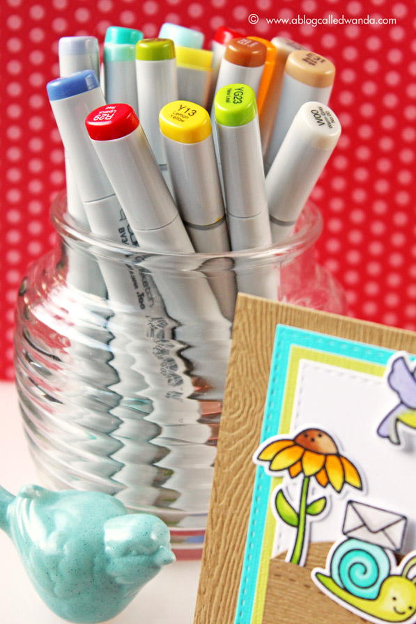 Copic Marker colors for Lawn Fawn Card - by Wanda Guess