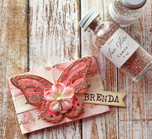 Sizzix Butterfly Fold die by Brenda Walton. Card made by Wanda Guess