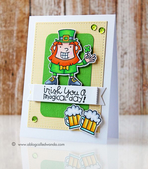 Paper Smooches Magical Spring stamps. Card by Wanda Guess