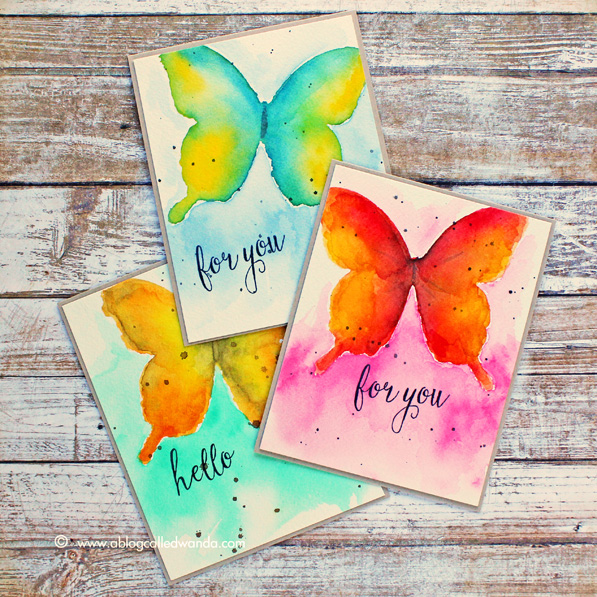 Watercolor butterflies tutorial by Wanda Guess