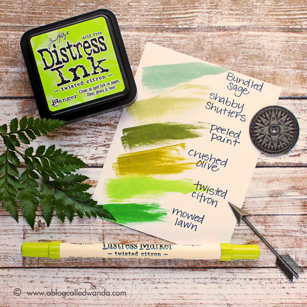 Twisted Citron Color Swatch - for Simon Says Stamp - by Wanda Guess