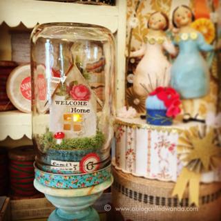 Mason jar luminary project - vintage