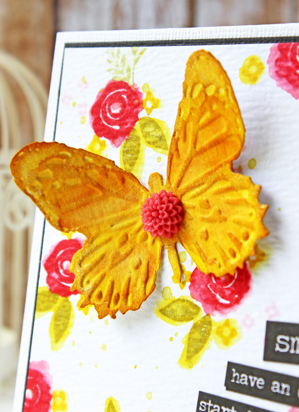 Sizzix Tim Holtz butterfly dies. Card by Wanda Guess